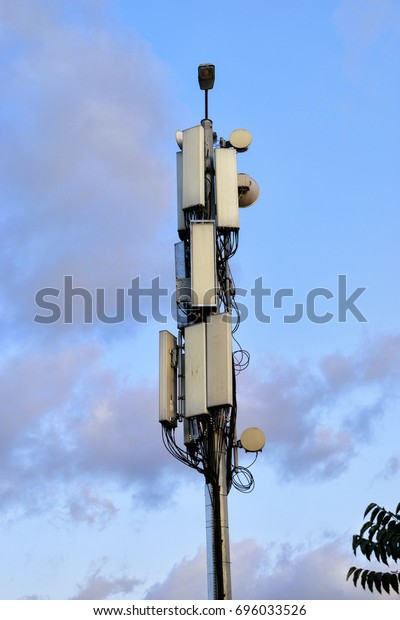 Outdoor Base Station Antennas Cell Phone Stock Photo (Edit