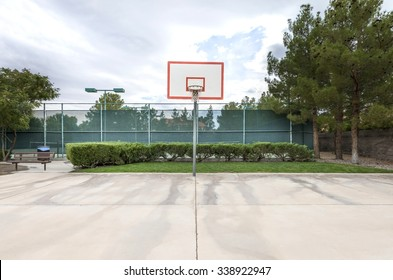 outdoor basketball court in a public park
