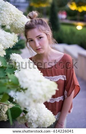 Outdoor nude portrait