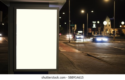 Outdoor billboard or kiosk advertising mockup