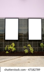 Outdoor blank wall signs