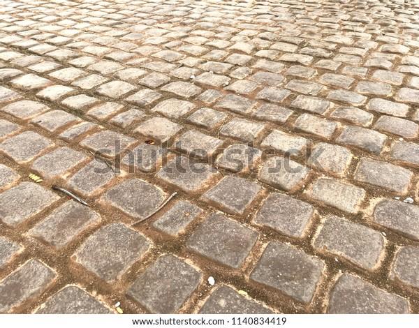 Outdoor Brick Stone Floor Patio Pattern Stock Photo Edit Now