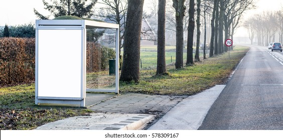outdoor bus stop billboard design