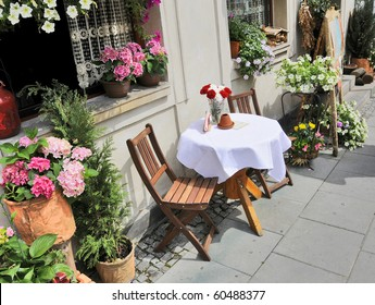 An outdoor cafe in Europe
