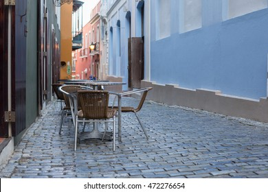 Outdoor Cafe in Old San Juan, Puerto Rico