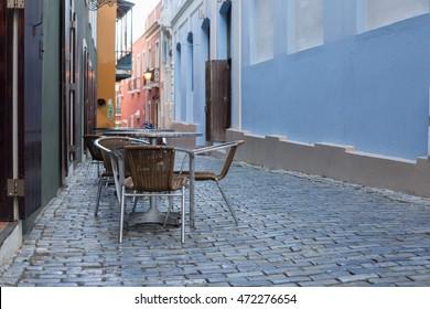 Outdoor Cafe in Old San Juan, Puerto Rico