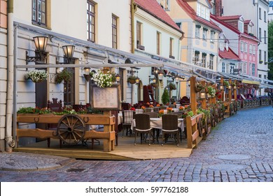 Outdoor cafe in the old town