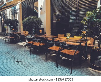 Outdoor Cafes In The Shardeni Street Of Old Town Tbilisi, Georgia