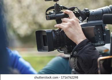 outdoor camera, when shooting a report