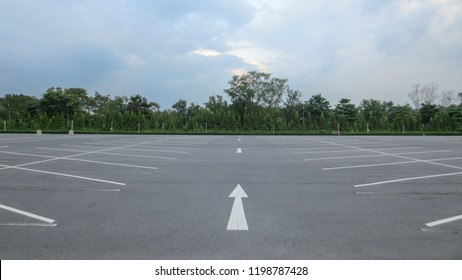 outdoor car parking lot in the evening