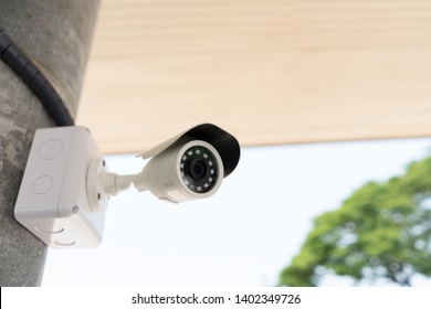 Outdoor CCTV watching camera for security and safety home from thief.