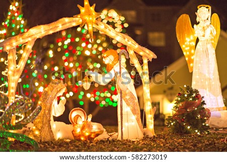 outdoor christmas decorations at christmas town usa