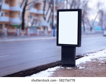 Outdoor city format for poster and advertising billboards mockup