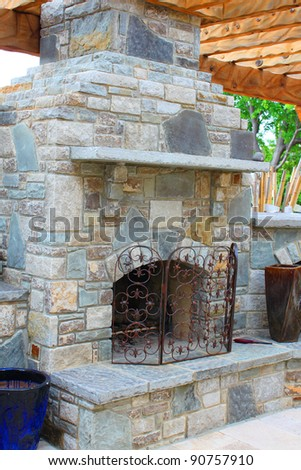 Outdoor Cooking Stove Fireplace Stock Photo Edit Now 90757910
