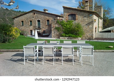 outdoor dining furniture set with table and chairs
