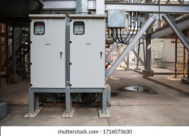 Outdoor distribution board in power plant or factory