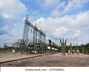 Outdoor Electrical Substation High Voltage