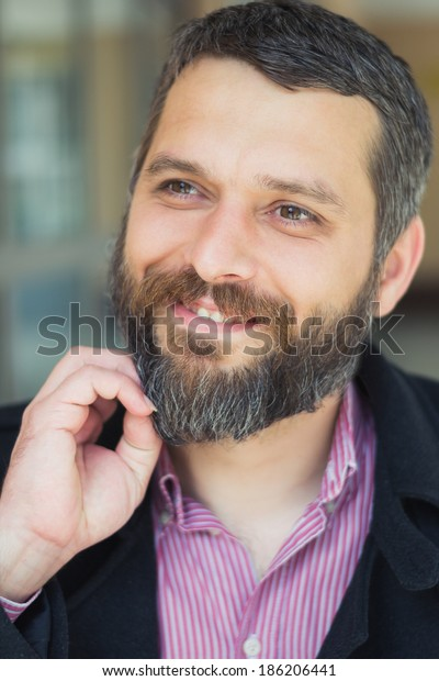 Outdoor Fashion Male Portrait Stock Photo (Edit Now) 186206441