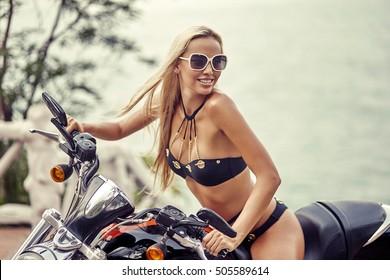 Bikini On Motorcycle