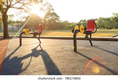 Outdoor Fitness Machine in public park.
