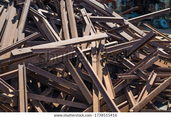 Outdoor garbage dump and iron miscellaneous goods