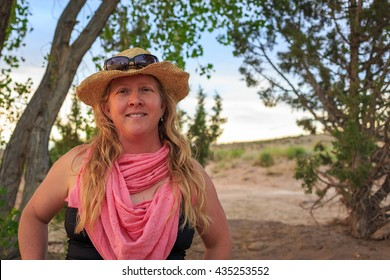 Outdoor image of a happy everyday woman.