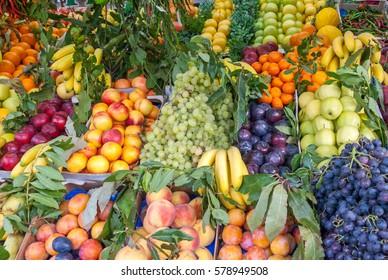 Outdoor Italian Fruit Market in Rome