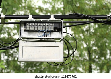 outdoor junction box of telephone cable