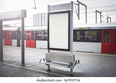 Outdoor kiosk advertisement poster