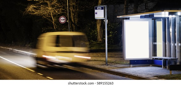 outdoor kiosk advertising billboard