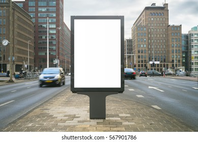 Outdoor kiosk advertising mockup
