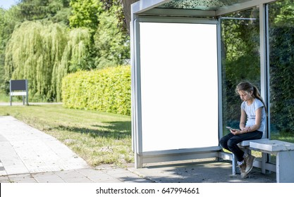Outdoor kiosk billboard mockup