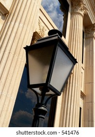 Outdoor Lamp and Building