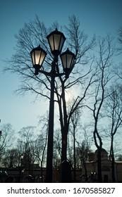 Outdoor lamp in the sky
