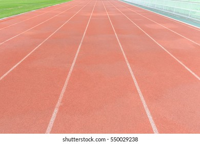 outdoor lane running red colour stadium for athletes
