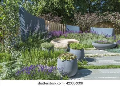 Outdoor living area in the garden
