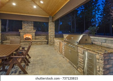 Outdoor living Space and Patio - Shutterstock ID 737120815