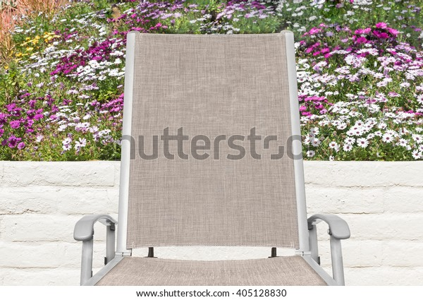 Peachy Outdoor Lounge Chair Colorful Daisy Flowers Stock Photo Caraccident5 Cool Chair Designs And Ideas Caraccident5Info