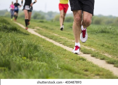 Outdoor marathon cross-country running fitness and healthy lifestyle