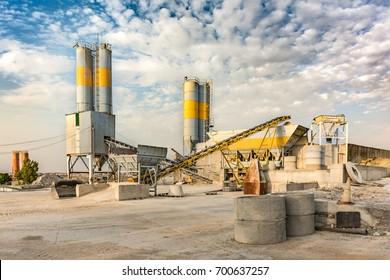 Outdoor mine in an industrial zone
