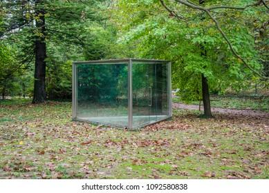Outdoor park glass greenhouse pavilion alcove retreat summer house