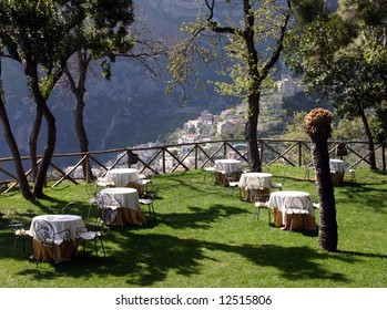 Outdoor patio cafe, South Italy