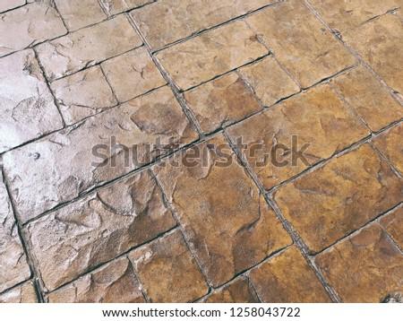 Outdoor Patio Pattern Floor Stamp Concrete Stock Photo Edit Now