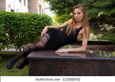 Outdoor photosession of nice Russian woman