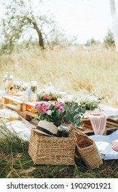 Outdoor picnic on a warm summer day