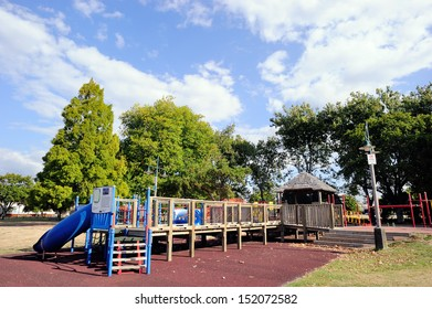 An outdoor playground in Taupo, north island, New Zealand