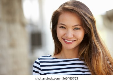 Portrait Young Smiling Woman Outdoor Sunligth Stock Photo (Edit Now ... 7c6219af5a9cd