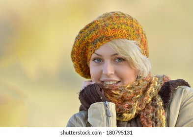 Outdoor portrait of a beautiful young girl