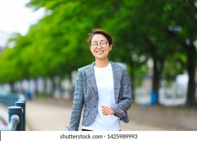 Outdoor portrait of business woman