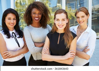 Outdoor Portrait Of Female Multi-Cultural Business Team